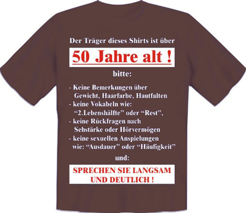 t shirt tr ger ist 50 jahre alt s xxl 50 geburtstag ebay. Black Bedroom Furniture Sets. Home Design Ideas
